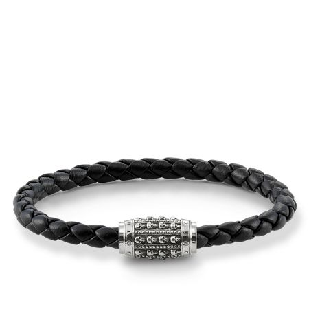 Thomas Sabo Plaited mini skull unity bracelet