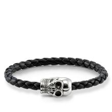 Thomas Sabo Plaited skull head unity bracelet