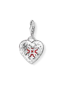 Charm club locket heart charm