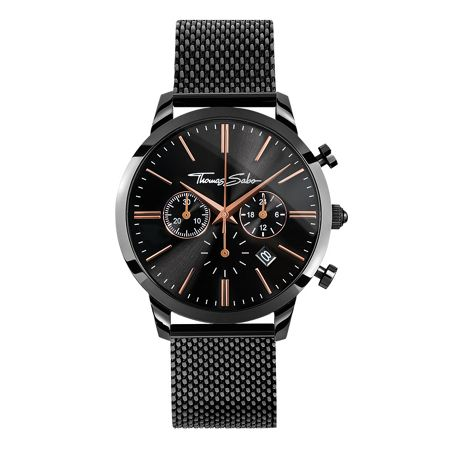 Thomas Sabo Rebel at heart Black Eternal Rebel Chrono Watch