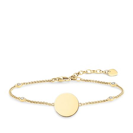 Thomas Sabo Glam & Soul Yellow Gold  Disk Bracelet