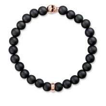 Thomas Sabo Rebel at heart Rose Gold Skull Bracelet