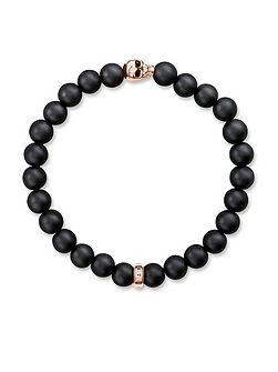 Rebel at heart Rose Gold Skull Bracelet
