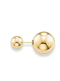 Yellow Gold Double Stud Classic Earrings