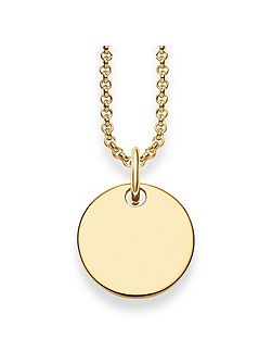 Gold Disk Love Bridge Necklace