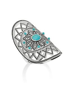 Dreamcatcher Turquoise Ethno Ring