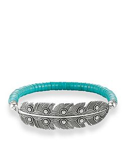 Ethno Feather Love Bridge Bracelet