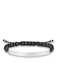 Black Macramé Love Bridge Bracelet