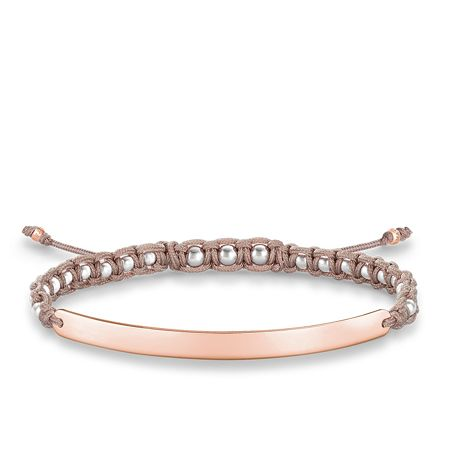 Thomas Sabo Love Bridge Rose Macramé Bracelet