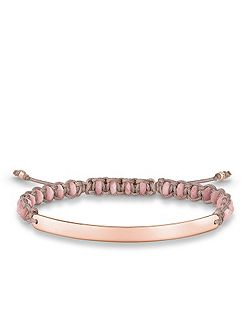 Rose Macramé Love Bridge Bracelet