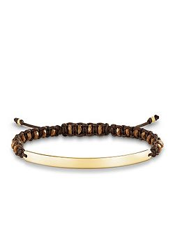 Brown Gold Love Bridge Bracelet