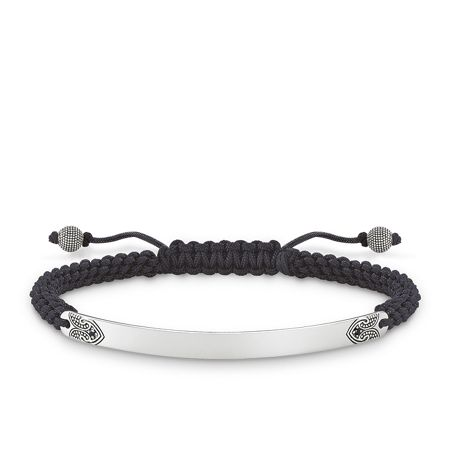Thomas Sabo Black Maori Love Bridge Bracelet