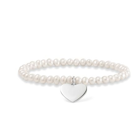 Thomas Sabo Love Bridge heart tag pearl bracelet