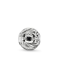 Silver eye of horus karma bead