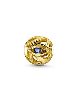 Yellow gold eye of horus karma bead