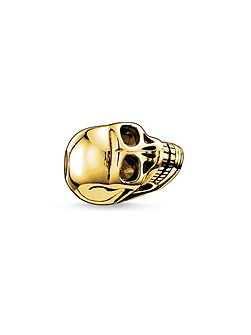 Yellow gold skull karma bead