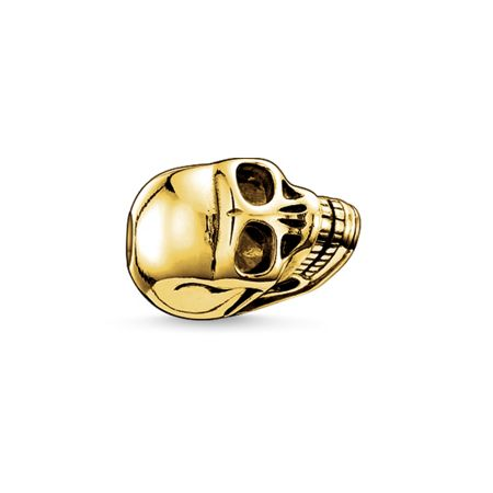 Thomas Sabo Yellow gold skull karma bead