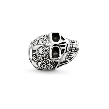 Thomas Sabo Silver skull with lily karma bead