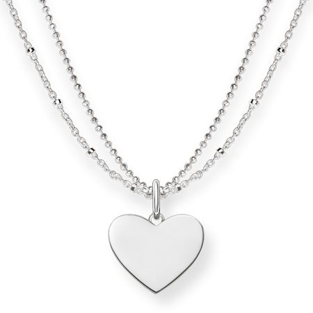 Thomas Sabo Love bridge engravable heart necklace