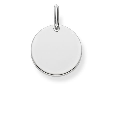 Thomas Sabo Love coin engravable disc pendant