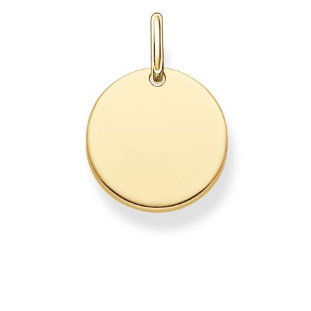 Thomas Sabo Love coin engravable gold disc pendant