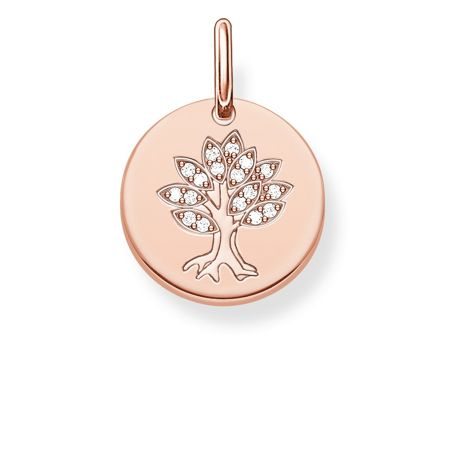 Thomas Sabo Love coin engravable tree of life pendant