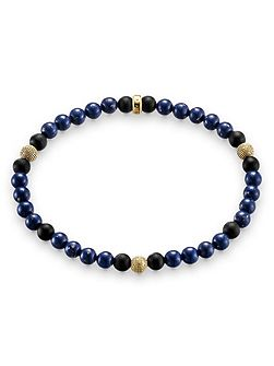 Rebel at heart stretch gold bead bracelet