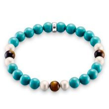 Thomas Sabo Rebel at heart stretch turquoise bracelet