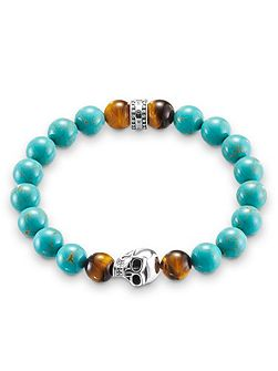 Rebel at heart stretch turquoise bracelet