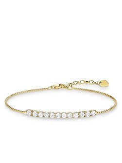 Glam & soul yellow gold tennis bracelet