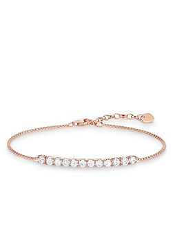 Glam & soul rose gold tennis bracelet