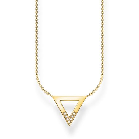 Thomas Sabo Triangle diamond yellow gold necklace
