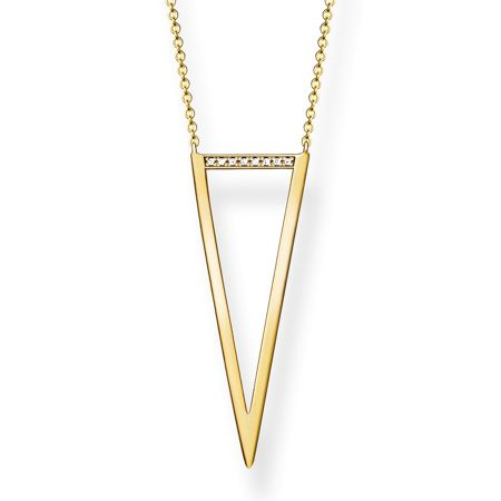 Thomas Sabo Triangle diamond gold long necklace