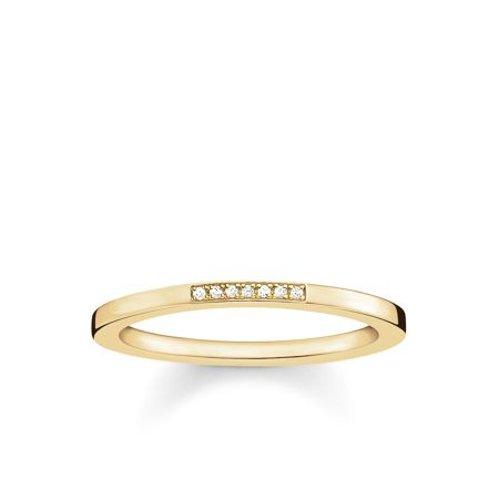 Thomas Sabo Glam & soul gold diamond ring band