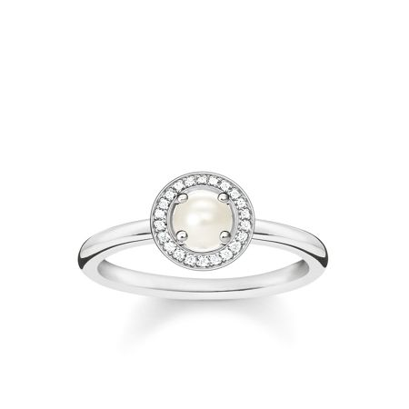 Thomas Sabo Glam & soul diamond pavé pearl ring
