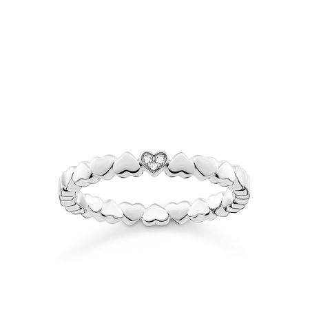 Thomas Sabo Glam & soul heart diamond ring band