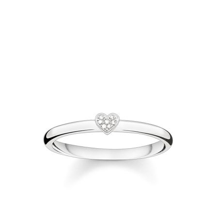 Thomas Sabo Glam & sould diamond pave heart ring