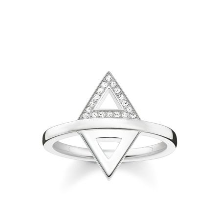 Thomas Sabo Triangle diamond silver stacking ring