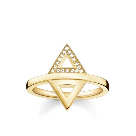 Thomas Sabo Triangle diamond gold stacking ring