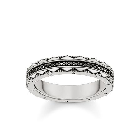 Thomas Sabo Nile trasures black zirconia ring band