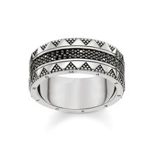 Thomas Sabo Nile trasures black zirconia chunky ring
