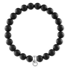 Thomas Sabo Charm club matt black charm bracelet