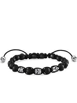 Mini Skull Tie Beaded Bracelet