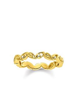Glam & Soul Diamond Leaf Ring