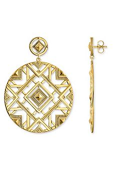 Drop Down Cut-out Africa Earrings