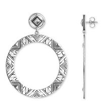 Thomas Sabo Drop Down Cut-out Africa Earrings