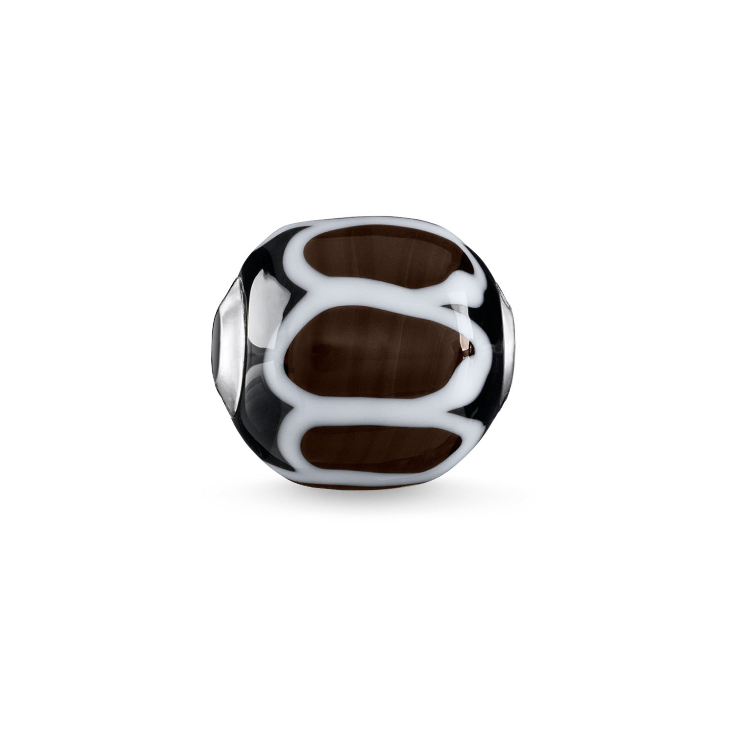 Thomas Sabo Brown Glass Handcrafted Africa Karma Bead Metallic