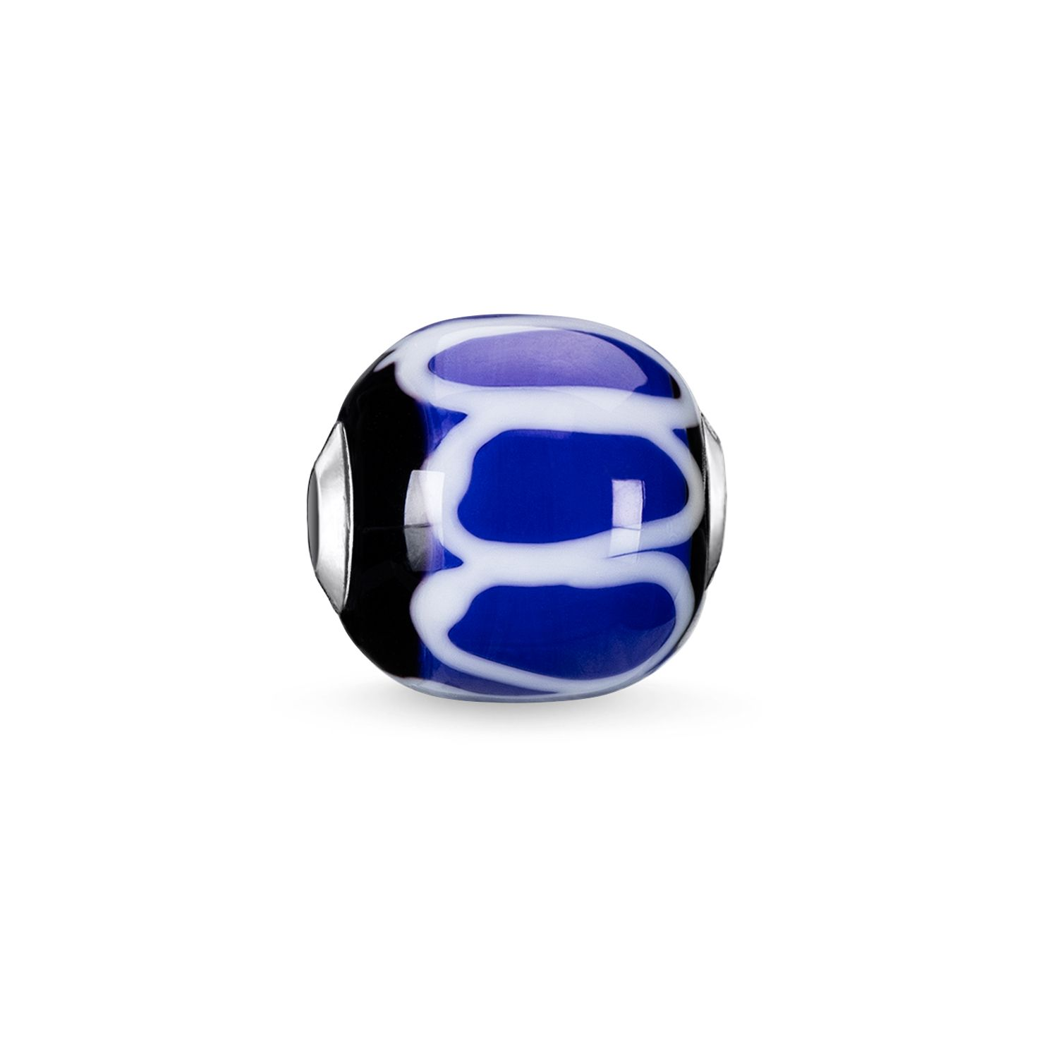 Thomas Sabo Blue Glass Handcrafted Africa Karma Bead Metallic