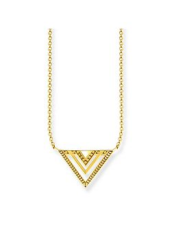Yellow Gold Triangle Africa Necklace