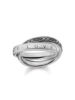 Infinity of Love Intertwined Ring